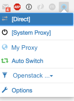 SwitchyOmega in browser