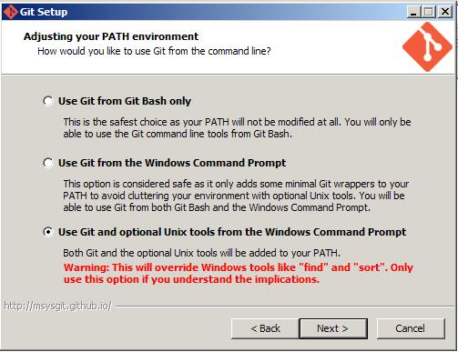 Git For Windows Option